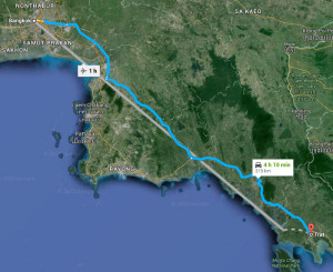 הדרך מבנגקוק לטראט